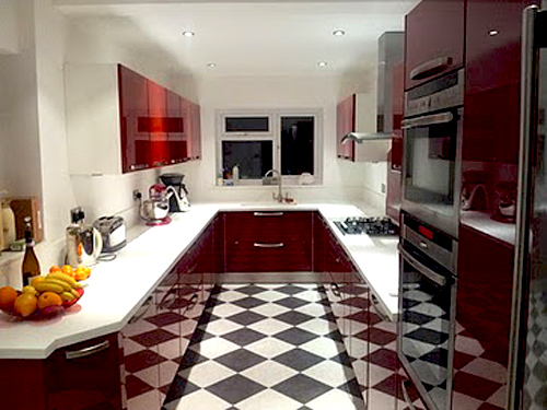 Real Kitchens Red Gloss German Kitchen From Nobilia Kitchens Kitchens