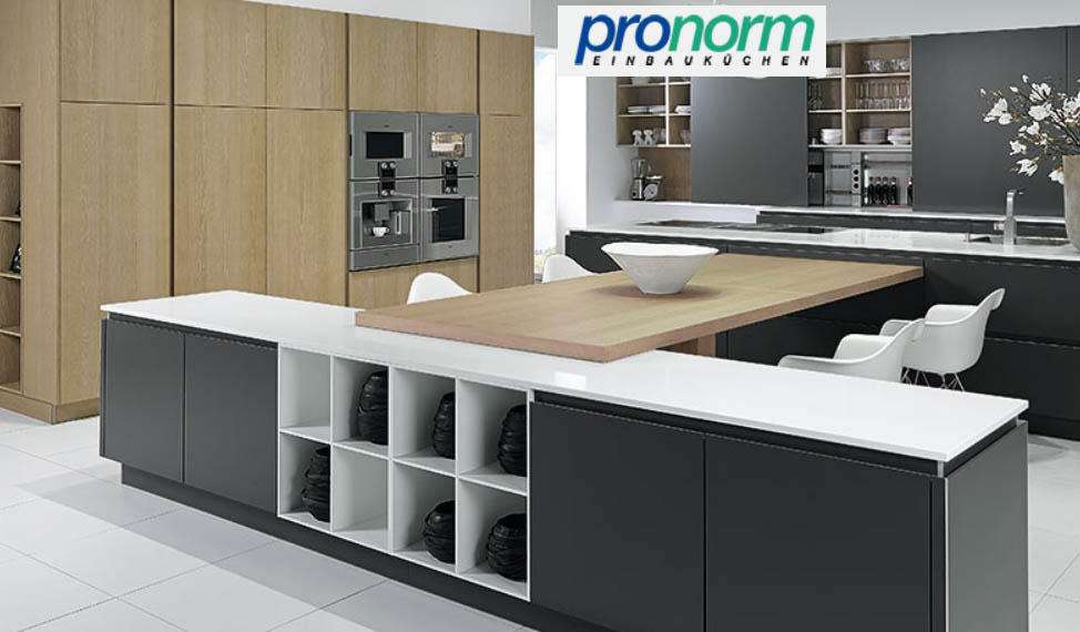 German kitchen brand pronorm announces new doors for German kitchen appliances brands