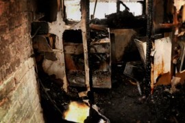 The aftermath of the fire in which Doug McTavish died last year.  ITV News