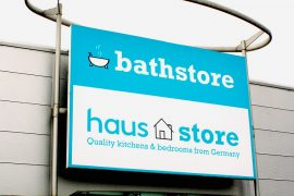 Bathstore Kitchen Haus-Store sign & logo