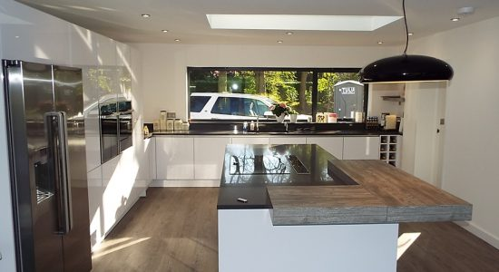 ... For Their Client In Little Chalfont, Buckinghamshire Using Nobilia Line  N Focus 469 Premium Ultra White High Gloss. The Kitchen Makes Brilliant Use  Of ...