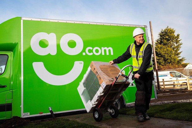 online appliance retailer AO-delivery